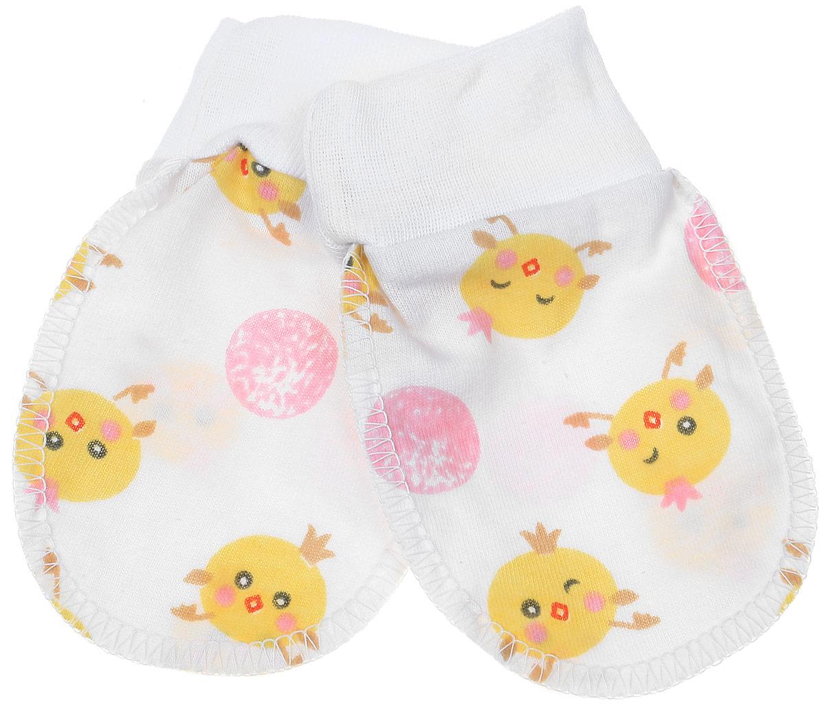 5906Рукавички для младенцев Чудесные одежки изготовлены из натурального хлопка. Они не раздражают нежную кожу ребенка. Широкие мягкие резинки не стягивают ручки. Швы выполнены на лицевую сторону.