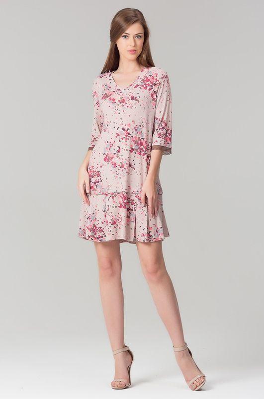 Туника408Т1Домашняя туника-платье из нежной вискозы.