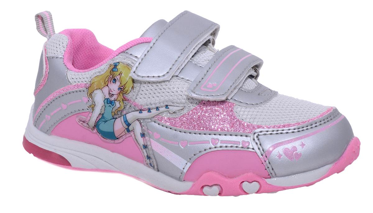 КроссовкиA-T60-79-BСтильные кроссовки от Tom.M придутся по душе вашей маленькой моднице. Модель выполнена из искусственной кожи и ставками из текстиля. Подошва оснащена рифлением для лучшего сцепления с любыми поверхностями. Модные и удобные кроссовки займут достойное место в гардеробе вашей девочки.