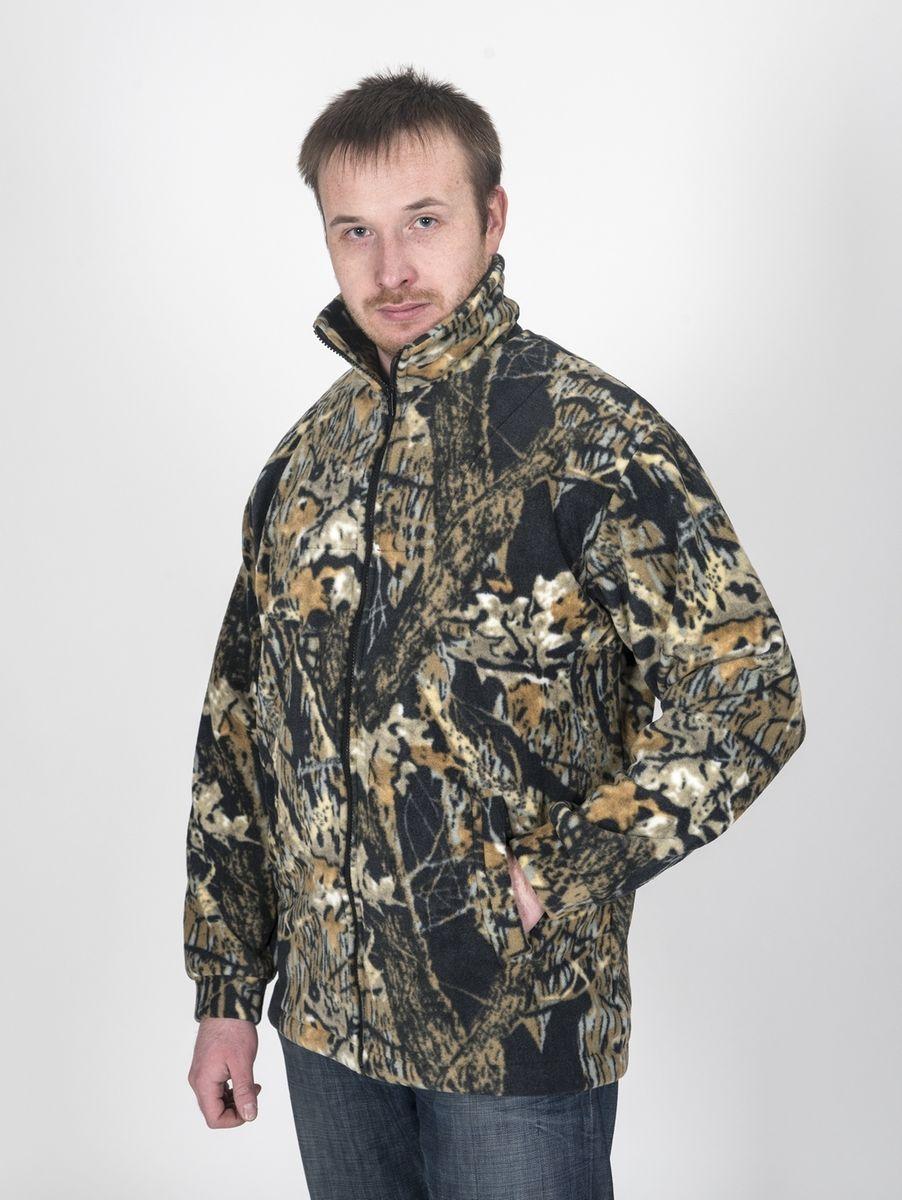Куртка рыболовнаяКомфортФлисовая куртка Комфорт отлично заменит шерстяной свитер или кофту. Имеет разъемную молнию, высокий воротник и два глубоких кармана. Низ куртки регулируется при помощи резинки и стопора. Изготавливается из ткани Polar fleece плотностью 300 гр\м2. Polar fleece это: трикотажная ткань с двухсторонним ворсом: особо износоусточивым с наружной стороны - Polar и очень мягким и комфортным с внутренней - fleece. Лучший современный заменитель шерсти, дышащий и не вызывающий аллергии. Основные достоинства и преимущества: высокоэффективная теплозащита; мягкость и комфорт при прикосновении; отлично впитывает влагу и не холодит тело при намокании, как одежда из хлопка; быстро высыхает после намокания – быстрее , чем хлопок или шерсть;не обладает усадкой после стирки; не растягивается и не теряет форму в процессе эксплуатации.