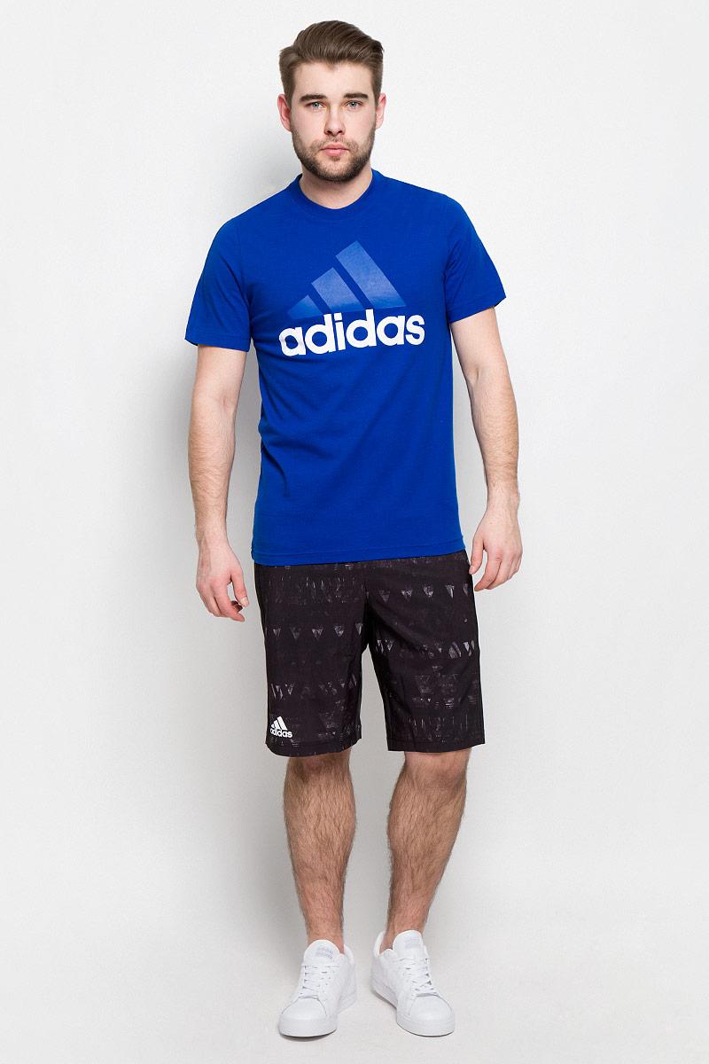 ФутболкаS98734Удобная мужская футболка Adidas Freelift Chill1 изготовлена из натурального хлопка. Модель с круглой горловиной и короткими рукавами-реглан со стороны спинки. Футболка украшена большим принтом с фирменным логотипом adidas на груди.