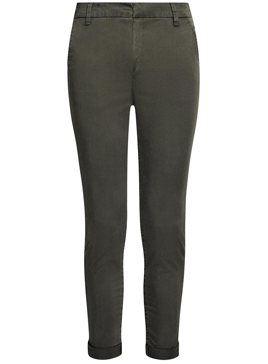 Брюки11706204/46777/2300NЖенские укороченные брюки oodji Ultra выполнены из высококачественного материала. Модель-чинос стандартной посадки застегивается на пуговицу в поясе и ширинку на застежке-молнии. Пояс имеет шлевки для ремня. Спереди брюки дополнены втачными карманами, сзади - прорезными на пуговицах.