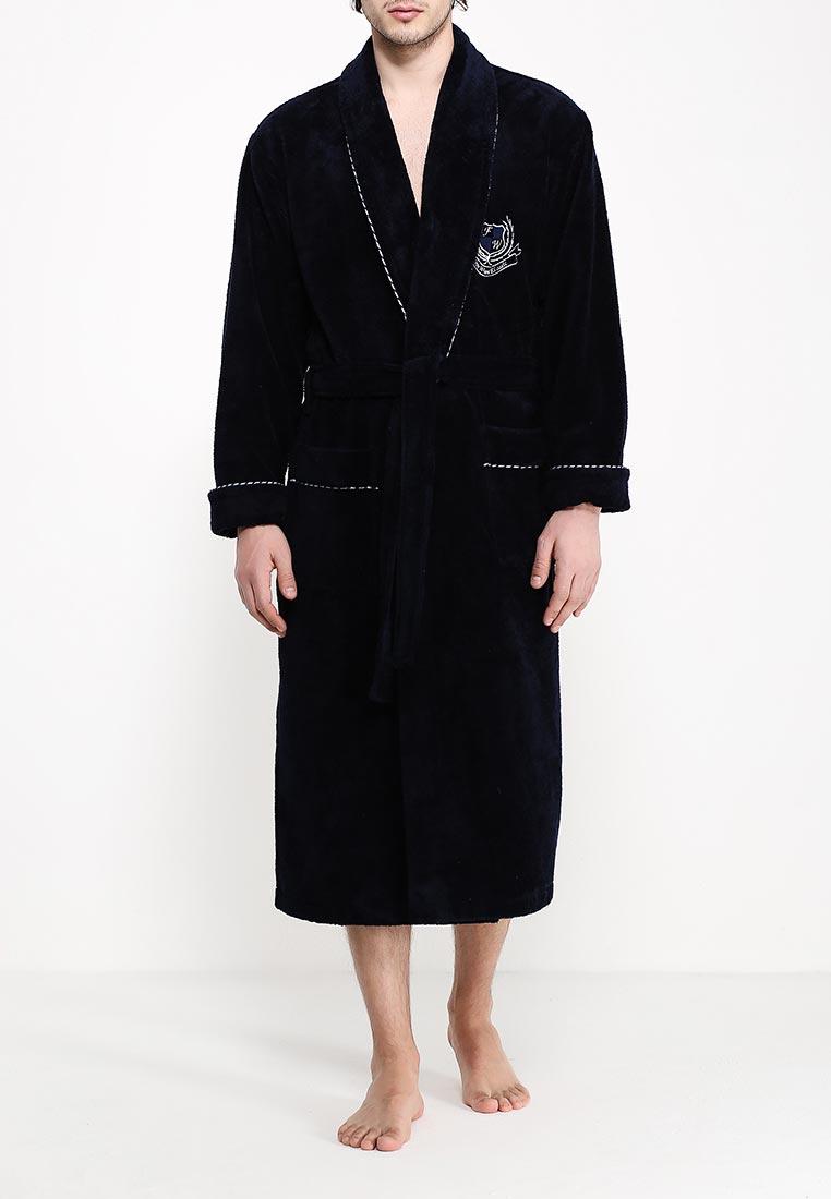 Халат136Классический, удлиненный мужской халат на запахе с шалькой. Однотонный с вышивкой на груди и крученым кантом по всей длине халата, а также на манжетах и карманах. Отличный вариант для настоящих мужчин.