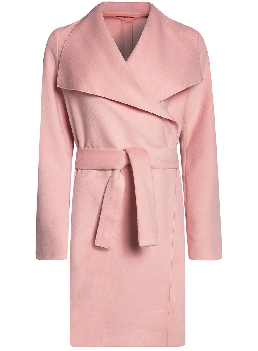 Пальто10104042/46315/2900NСтильное легкое пальто oodji Ultra отлично подойдет на теплую весну и прохладное лето. Модель без подкладки, с воротником-шаль и длинными рукавами завязывается поясом.