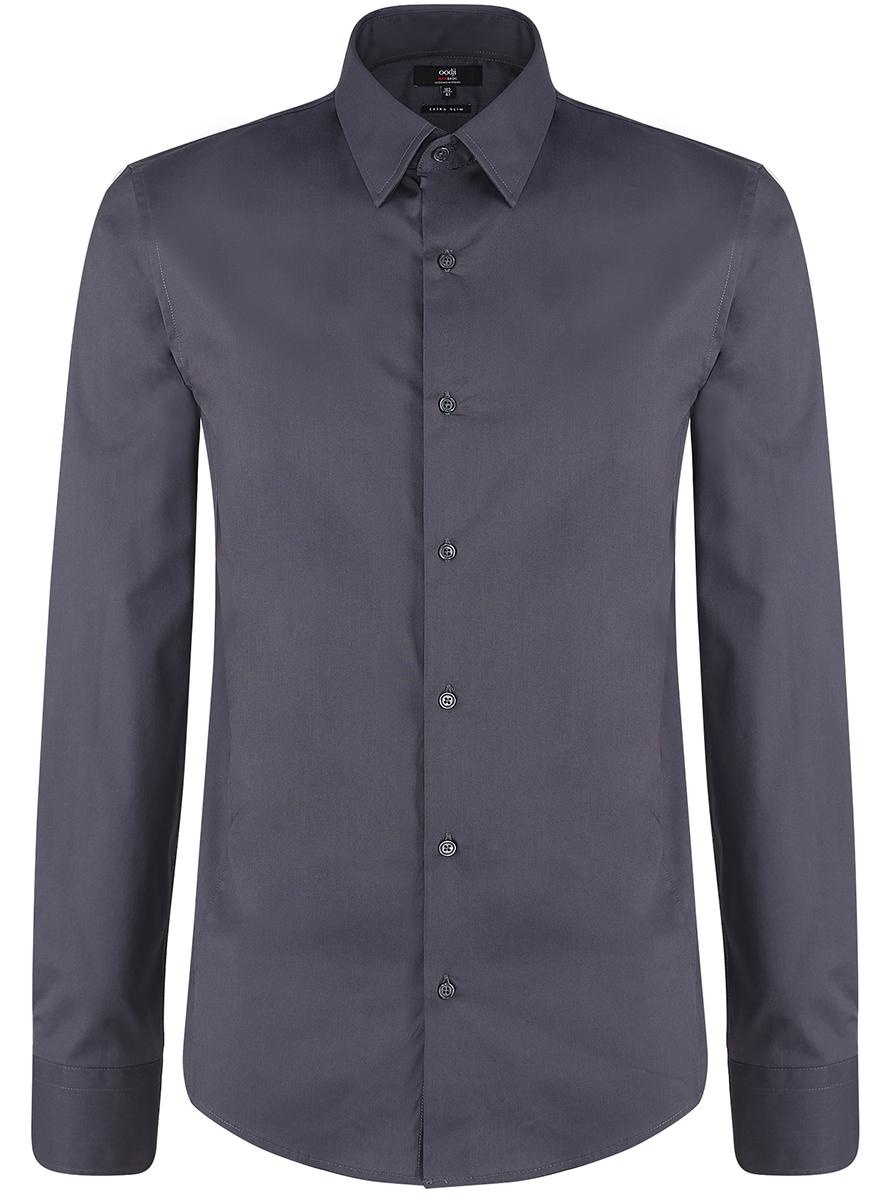 3B140000M/34146N/8000NБазовая мужская рубашка приталенного силуэта (extra slim) oodji Basic изготовлена из хлопка с добавлением полиамида и эластана. Она мягкая и приятная на ощупь, не сковывает движения и позволяет коже дышать, обеспечивая наибольший комфорт. Рубашка с отложным воротником и длинными рукавами застегивается на пуговицы. Манжеты рукавов также застегиваются на пуговицы.