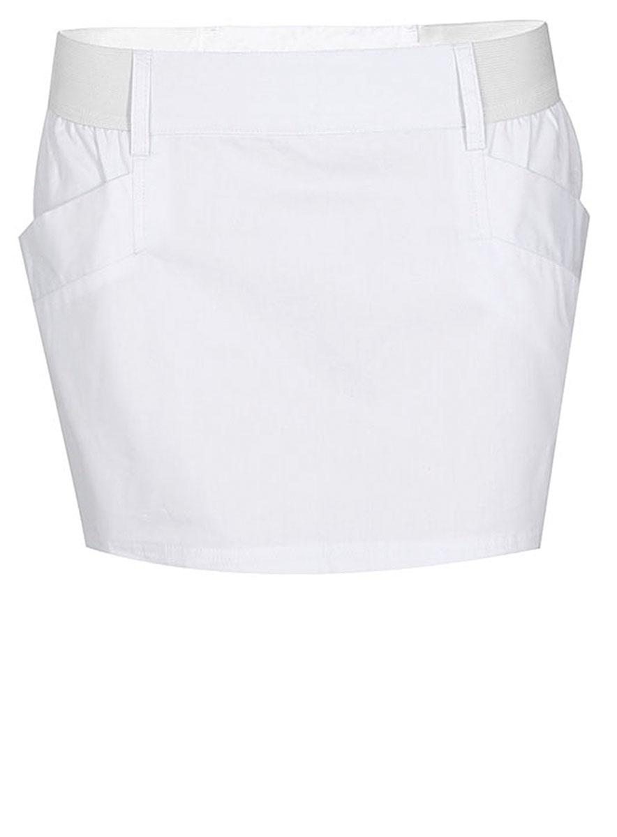 Юбка11600266/27125/1000NСтильная мини-юбка выполнена из натурального хлопка. По бокам модель дополнена практичными карманами.