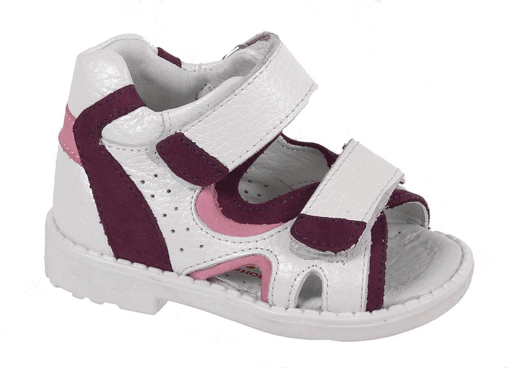 СандалииiВ 024/1-137-91Сандалии для девочки от Tico выполнены из натуральной кожи с мягкими вставками. На ноге модель фиксируют ремешки с липучками. Носок открыт. Внутренняя поверхность и стелька изготовлены из натуральной кожи. Подошва из полимерного термопластичного материала оснащена рифлением.