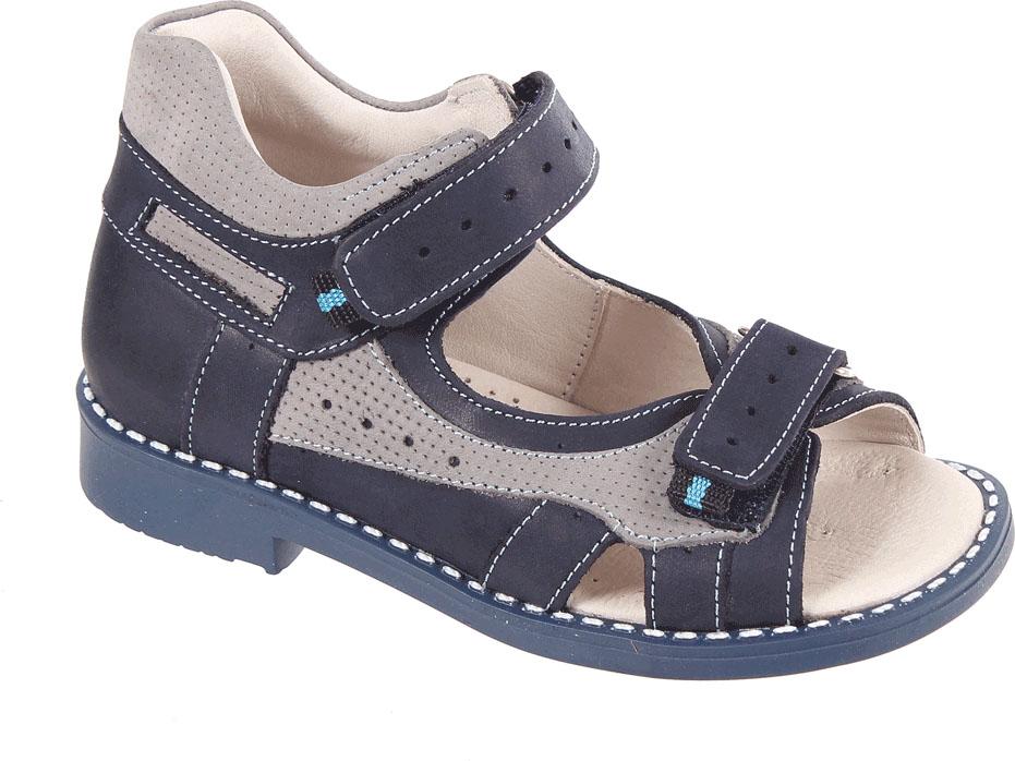 СандалииР 061/110-98Сандалии для мальчика Tico изготовлены из натурального нубука. На ноге модель фиксируют ремешки на липучках. Носок открыт. Внутренняя поверхность и стелька изготовлены из натуральной кожи. Подошва из термопластичного материала оснащена рифлением.