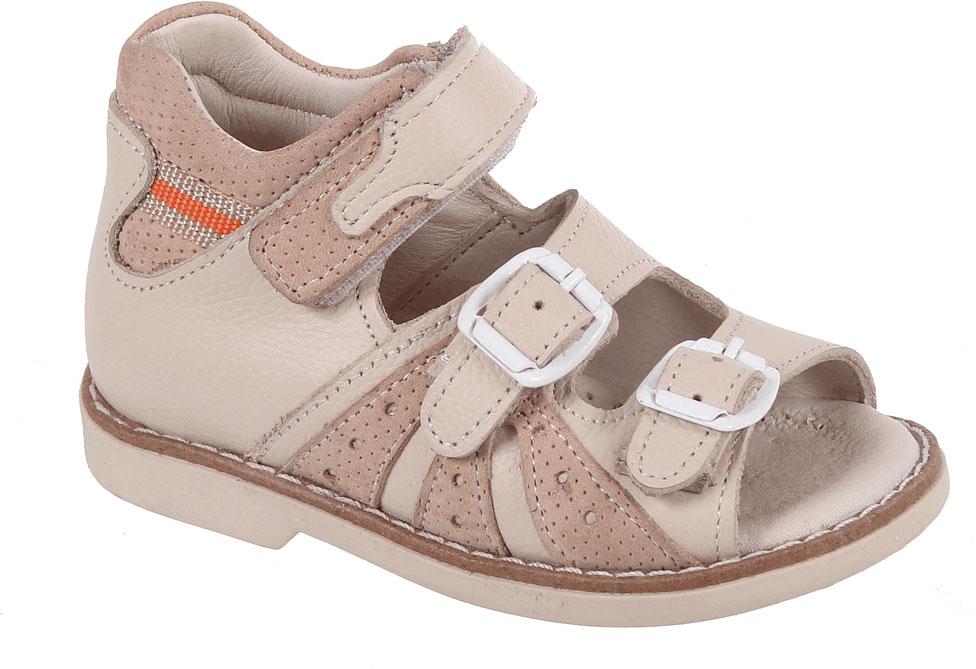 СандалииB 062/95Детские сандалии от Tico выполнены из комбинированной натуральной кожи. На ноге модель фиксируют ремешки: один из них на липучке, два других - на пряжке. Носок открыт. Внутренняя поверхность и стелька изготовлены из натуральной кожи. Подошва из полимерного термопластичного материала оснащена рифлением.