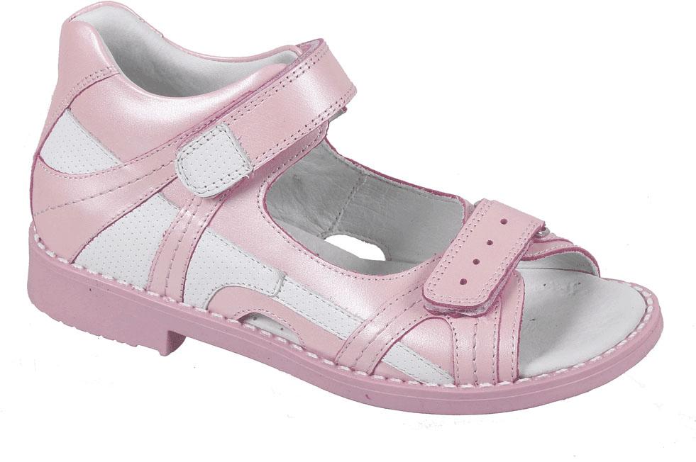 СандалииF 906/32-151Сандалии для девочки от Tico выполнены из натуральной кожи. На ноге модель фиксируют ремешки на липучках. Носок открыт. Внутренняя поверхность и стелька изготовлены из натуральной кожи. Подошва из полимерного термопластичного материала оснащена рифлением.