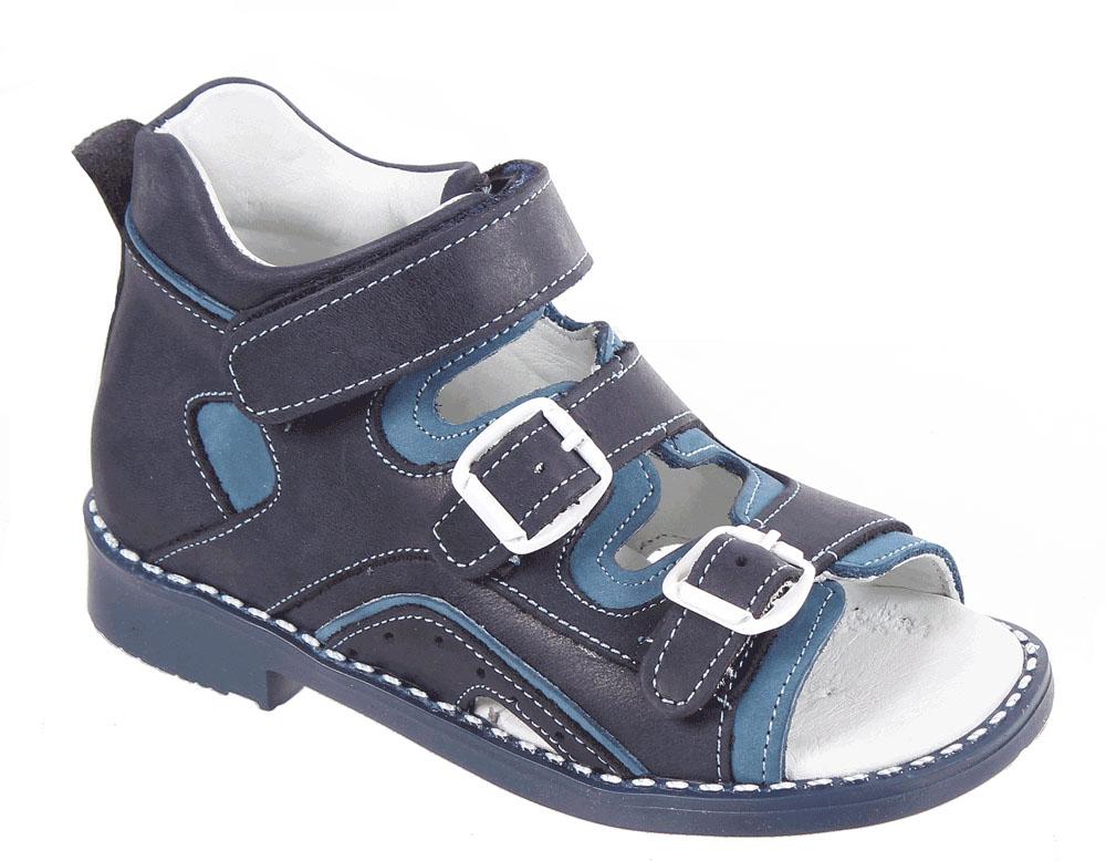 СандалииР 027/110-129Сандалии для мальчика Tico изготовлены из натуральной кожи. На ноге модель фиксируют ремешки: один из них на липучке, два других - на пряжке. Носок открыт. Внутренняя поверхность и стелька изготовлены из натуральной кожи. Подошва из термопластичного материала оснащена рифлением.