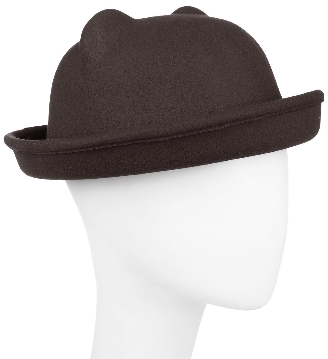 ШляпаKW081-000266Шляпа женская Kawaii Factory оформлена двумя ушками на макушке, имитирующими кошачьи. Шляпа имеет большой процент содержания шерсти. Добавление в состав полиэстера снижает риск деформации изделия. Шляпа имеет небольшие загнутые кверху поля. Уважаемые клиенты! Размер, доступный для заказа, является обхватом головы.