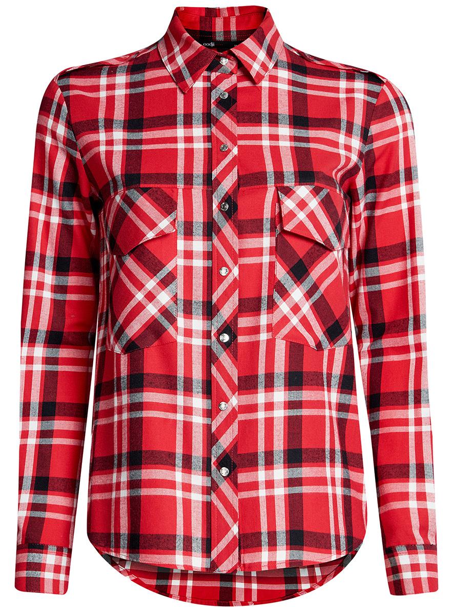 Блузка11411052-4/45252/2912CРубашка хлопковая с нагрудными карманами