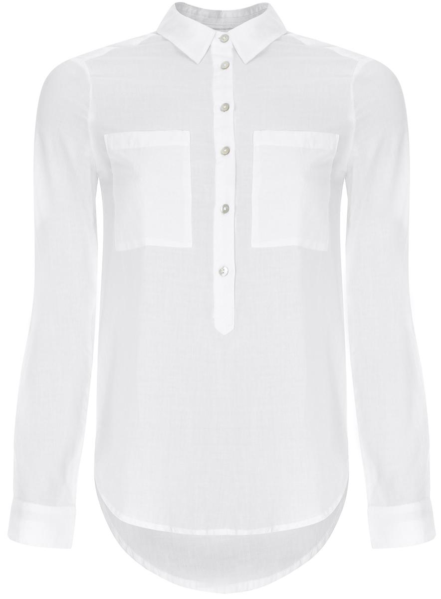 Блузка11411101B/45561/1000NРубашка хлопковая свободного силуэта