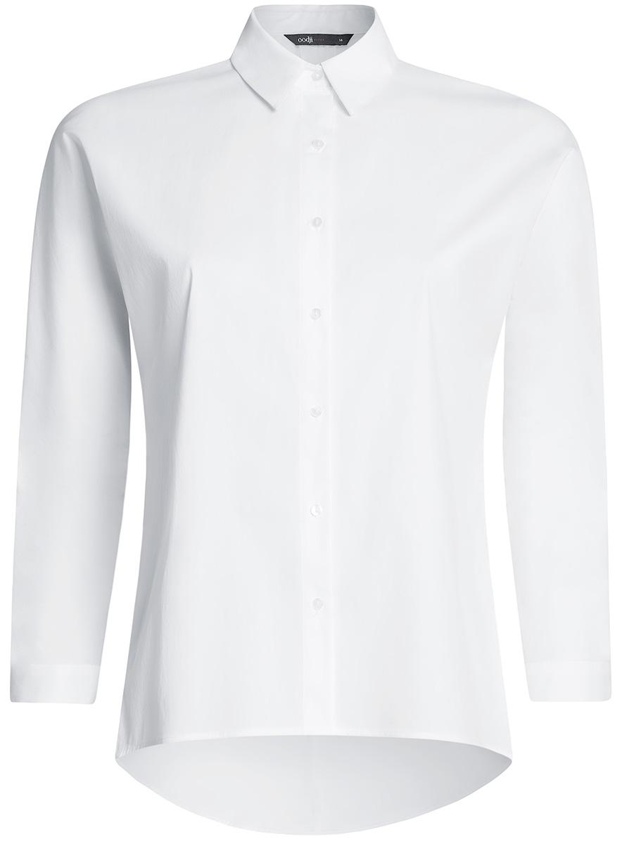 Блузка11405135/45816/1000NРубашка свободного силуэта с удлиненной спинкой