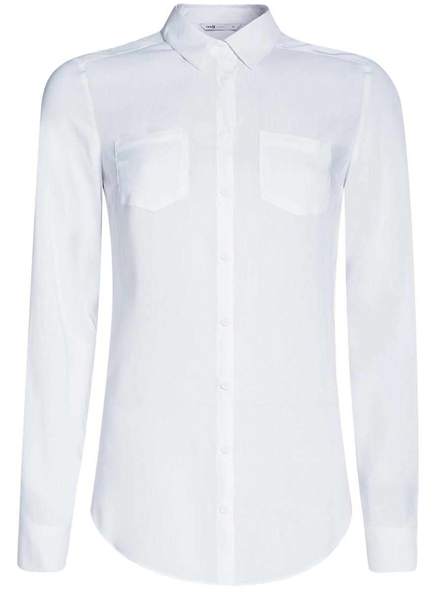 Блузка11400355-3B/14897/2900NБлузка с нагрудными карманами и регулировкой длины рукава