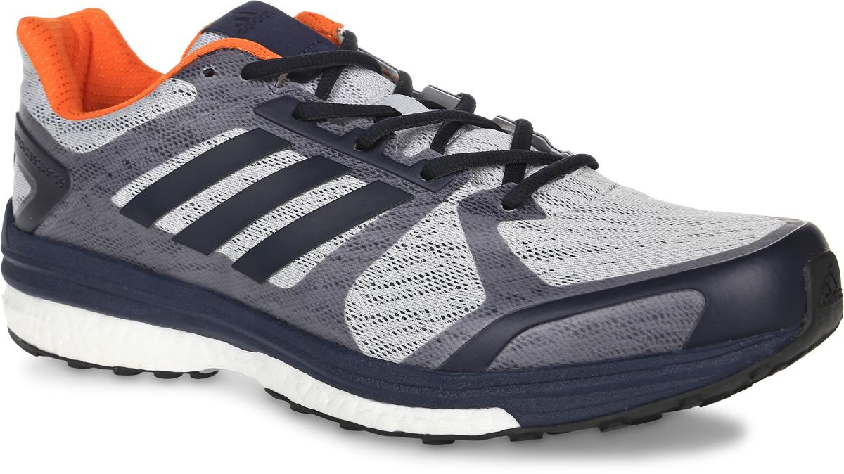 КроссовкиBB1612Мужские кроссовки для бега adidas Performance Supernova Sequence 9 выполнены из сетчатого текстиля и оформлены фирменными накладками из полимера. Шнурки надежно зафиксируют модель на ноге. Внутренняя поверхность из текстиля комфортна при движении. Стелька выполнена из легкого ЭВА-материала с поверхностью из текстиля. Подошва изготовлена из высококачественной легкой резины и дополнена рельефным рисунком.