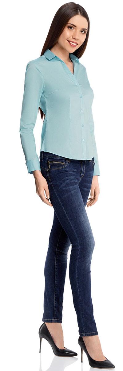 Блузка11402092B/42083/1000NРубашка приталенная с V-образным вырезом