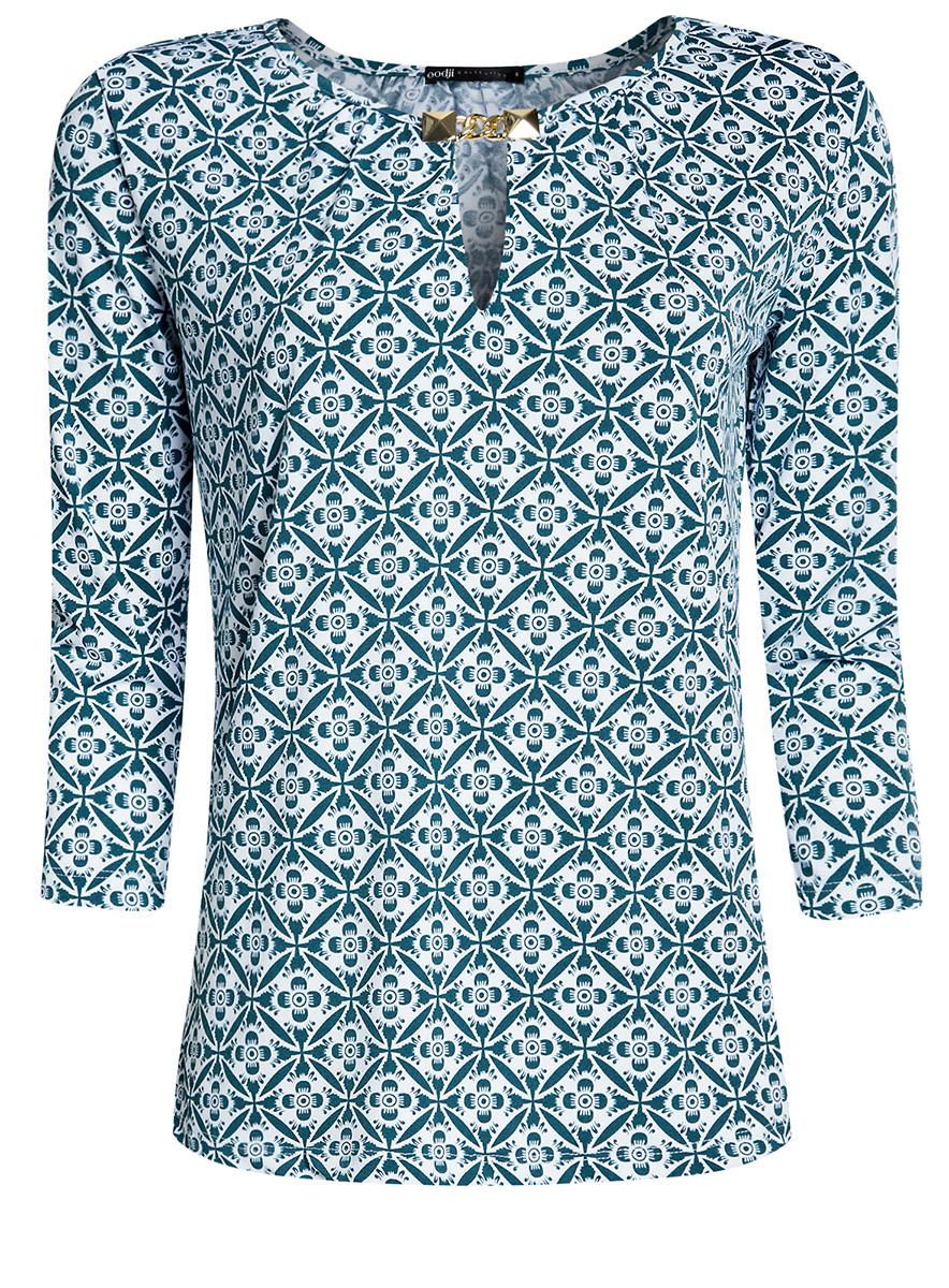 Блузка24201021/43121/1065OБлузка из струящейся ткани с металлическим украшением