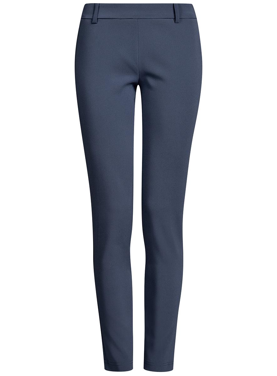 Брюки11706196B/42250/2900NЖенские укороченные брюки oodji Ultra выполнены из высококачественного материала. Модель стандартной посадки застегивается сбоку на застежку-молнию. Пояс имеет шлевки для ремня. Пояс сзади дополнен эластичной резинкой.