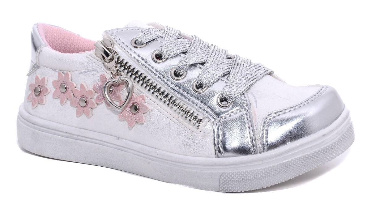 Полуботинки7201_16Стильные полуботинки для девочки М+Д изготовлены из качественной искусственной кожи. Модель оформлена металлической молнией и декоративными цветочками. Удобная шнуровка надежно зафиксирует обувь на ноге. Мягкая стелька обеспечивает комфорт при носке. Подошва оснащена рифлением для лучшего сцепления с различными поверхностями.