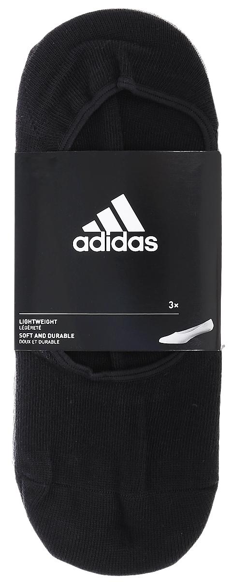 Комплект носковAA2303Носки adidas Per W Inv T изготовлены из высококачественного эластичного хлопка с добавлением полиэстера. Носки с очень низкой посадкой и укрепленным сводом стопы полностью закрываются обувью. В комплект входят 3 пары носков.