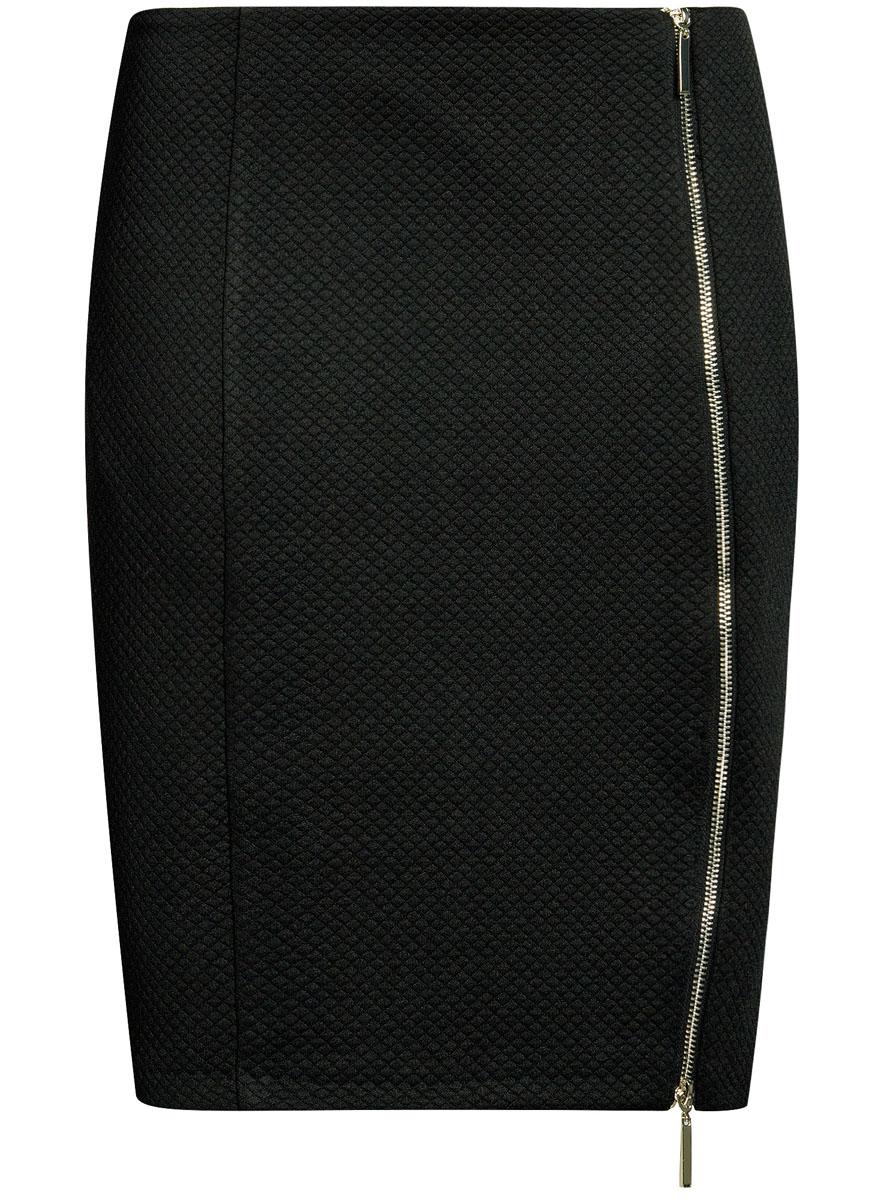 Юбка14101080-1/42408/2900NСтильная юбка-карандаш выполнена из фактурного материала. Спереди модель дополнена двусторонней застежкой-молнией.