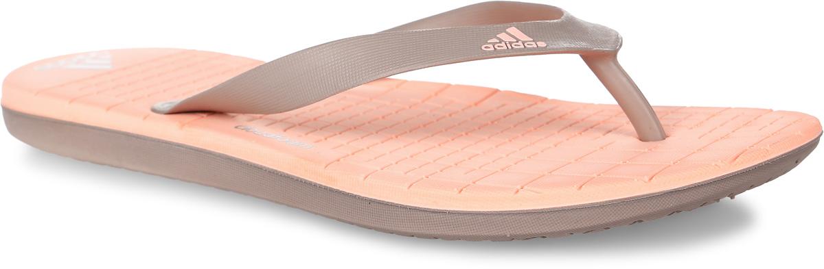 BA8794Сланцы adidas Eezay Cf выполнены из полимера и оформлены фирменными надписями. Подошва и стелька из легкого ЭВА-материала оснащены технологией cloudfoam для поглощения ударных нагрузок и комфортной посадки без разнашивания. Поверхность подошвы дополнена рельефным рисунком.