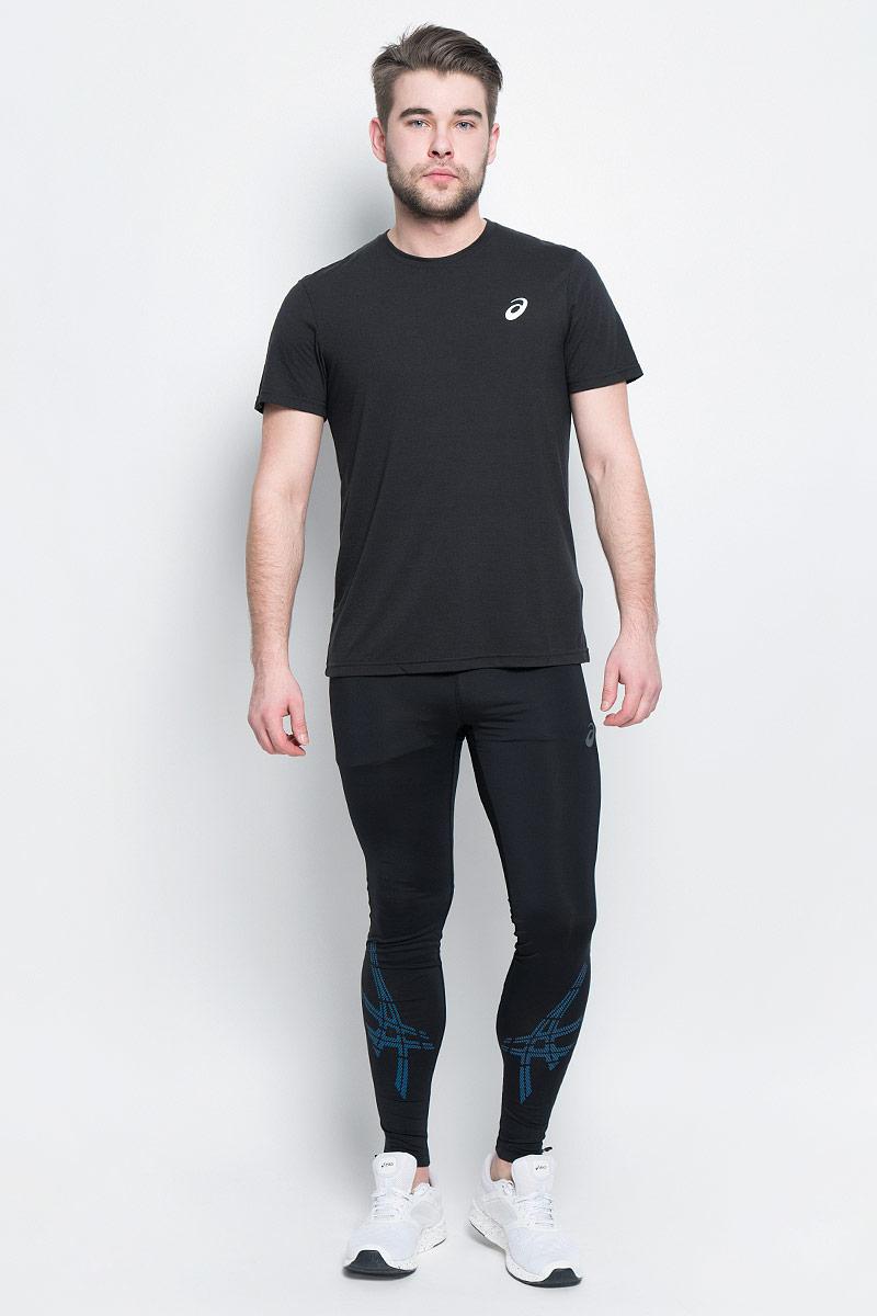 141099-0714Мужская футболка Spiral Top от Asics выполнена из полиэстера с добавлением вискозы и эластана. У модели круглый вырез горловины и стандартные короткие рукава. Спереди изделие декорировано логотипом бренда.