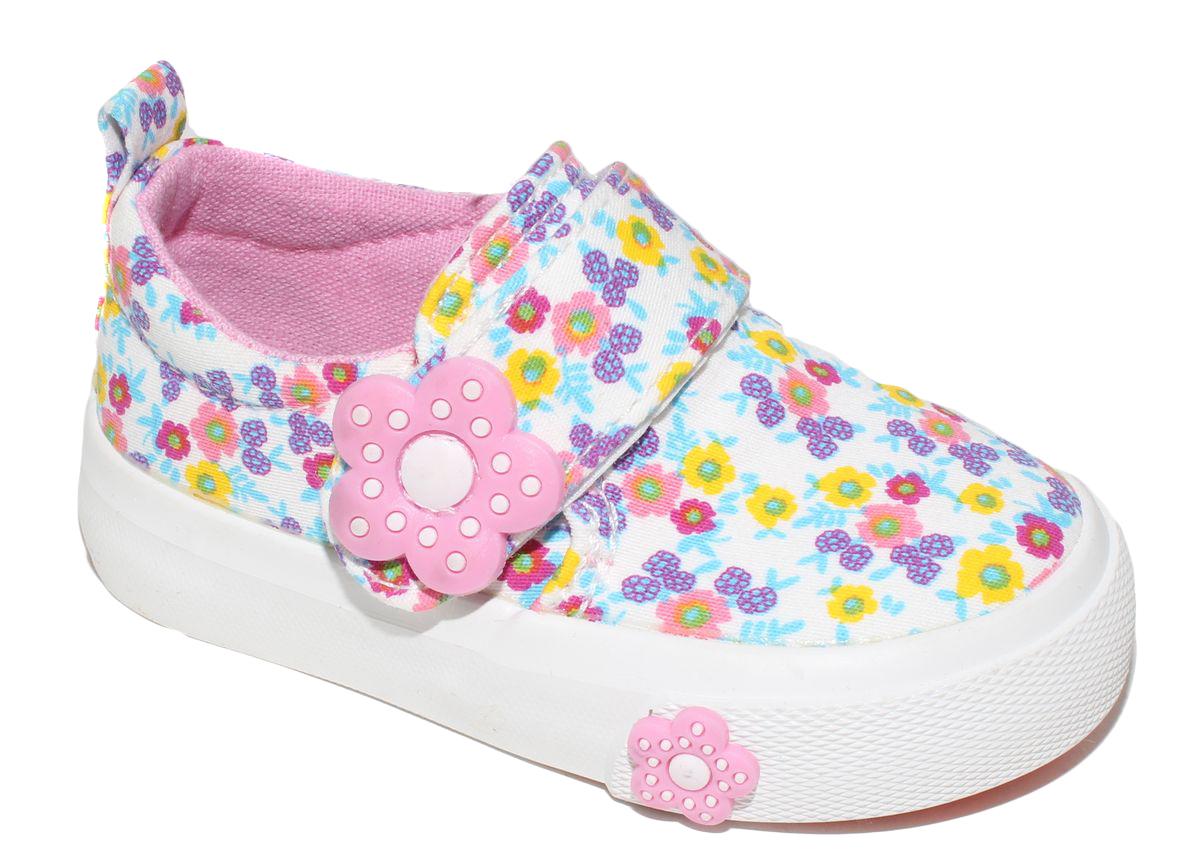 КедыD5878Кеды для девочки Капитошка очаруют вашего ребенка с первого взгляда! Модель выполнена из текстиля. Внутренняя поверхность из текстиля. Подошва с рифлением обеспечивает идеальное сцепление с любой поверхностью. Ремешок на застежке-липучке, обеспечивает надежную фиксацию обуви на ноге. Эффектные кеды приведут в восторг вашего ребенка!