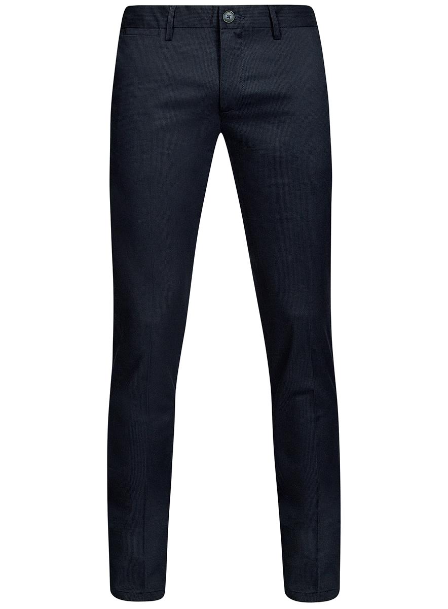 Брюки2L210188M/46273N/7500OМужские брюки oodji Lab выполнены из высококачественного материала. Модель-слим стандартной посадки застегивается на пуговицу в поясе и ширинку на застежке-молнии. Пояс имеет шлевки для ремня. Спереди брюки дополнены втачными карманами, сзади - прорезными на пуговицах.