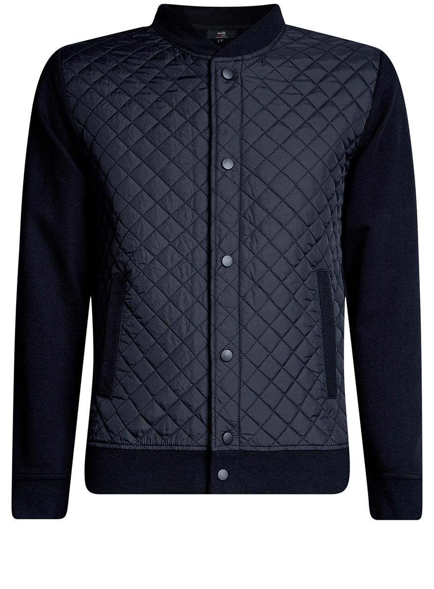 Куртка5B911020M/44112N/2900NМужская куртка oodji Basic выполнена из высококачественного материала. Модель застегивается на застежку-молнию и дополнительно ветрозащитным клапаном на кнопки. Спереди расположено два прорезных кармана.