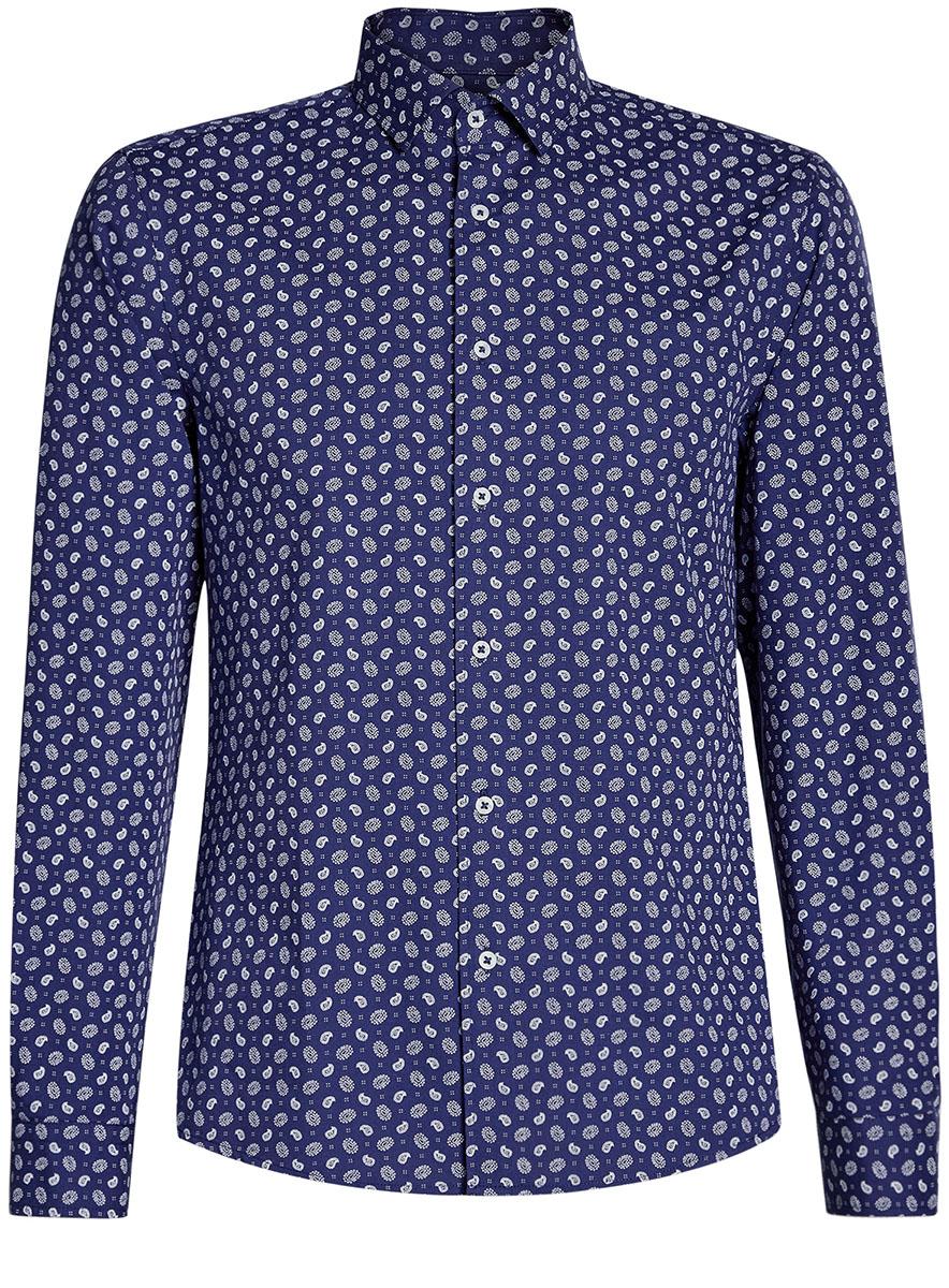 Рубашка3L310141M/46212N/7010EРубашка принтованная приталенного силуэта