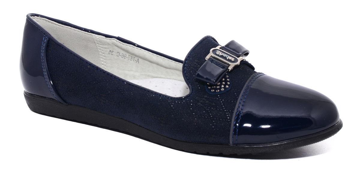 ТуфлиА-T87-96-CТуфли для девочек от Tom.M, выполненные из искусственной лакированной кожи, украшены декоративной отстрочкой и бантиком в области подъема. Подошва обладает отличными теплопроводными свойствами, гибкостью и износостойкостью. Эти туфли можно сочетать с самыми разнообразными вещами детского гардероба, в них ногам вашей малышке будет комфортно и уютно.
