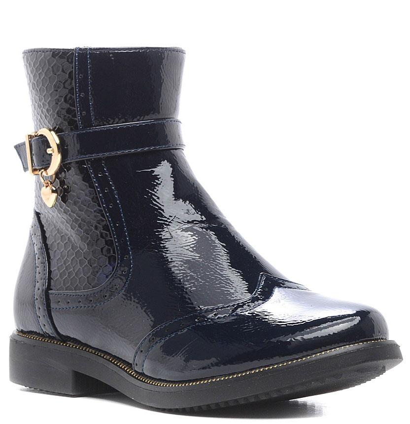 Ботинки062304Стильные ботинки для девочки изготовлены из искусственной кожи. Застежка-молния надежно зафиксирует модель на ноге. Внутренняя поверхность и стелька выполнены из текстиля, что обеспечивает комфорт. Подошва изготовлена из легкой и прочной резины, а ее рифление гарантирует отличное сцепление с любой поверхностью.