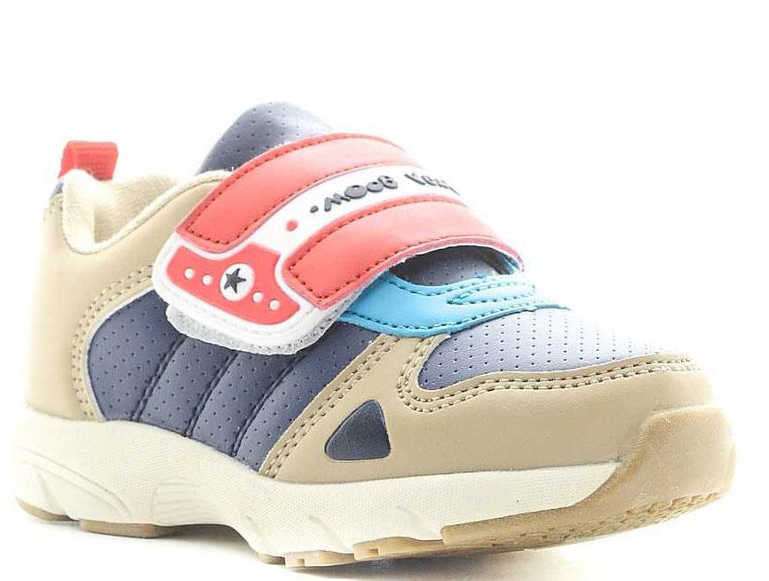 Кроссовки043749Модные кроссовки для мальчика выполнены из искусственной кожи. Подкладка и стелька из текстиля обеспечивают комфорт и не натирают. Ремешок с застежкой- липучкой надежно зафиксирует модель на ноге. Подошва дополнена рифлением.