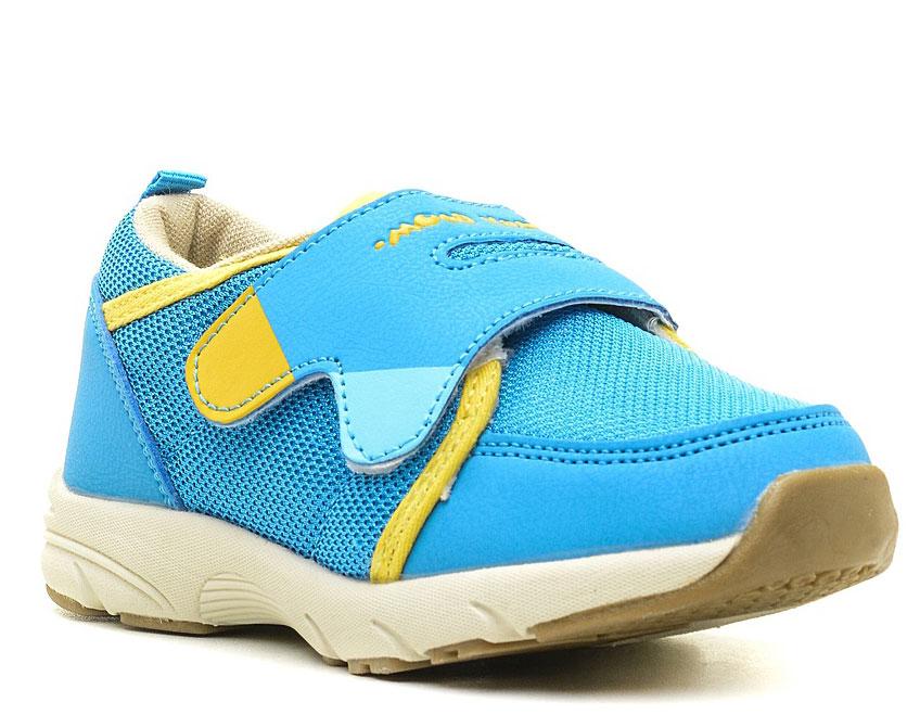 Кроссовки043748Модные кроссовки для мальчика выполнены из искусственной кожи и текстиля. Подкладка и стелька из текстиля обеспечивают комфорт и не натирают. Ремешок с застежкой-липучкой надежно зафиксирует модель на ноге. Подошва дополнена рифлением.