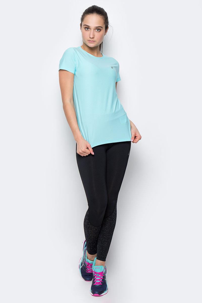 Футболка134104-0688Женская футболка Asics SS Top изготовлена из высококачественного полиэстера. Модель с короткими рукавами и круглым вырезом горловины имеет комфортные плоские швы. Изделие оформлено светоотражающим логотипом бренда.