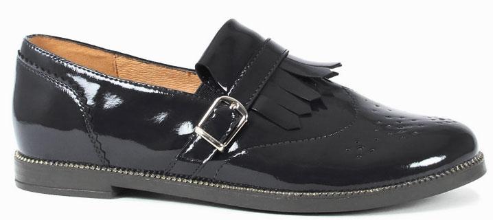 Туфли053773Модные туфли обязательно придутся по вкусу вашей юной моднице. Модель выполнена из искусственной лаковой кожи. Кожаная стелька с супинатором обеспечивает максимальный комфорт при движении. Подошва с рифлением обеспечивает отличное сцепление с поверхностью.