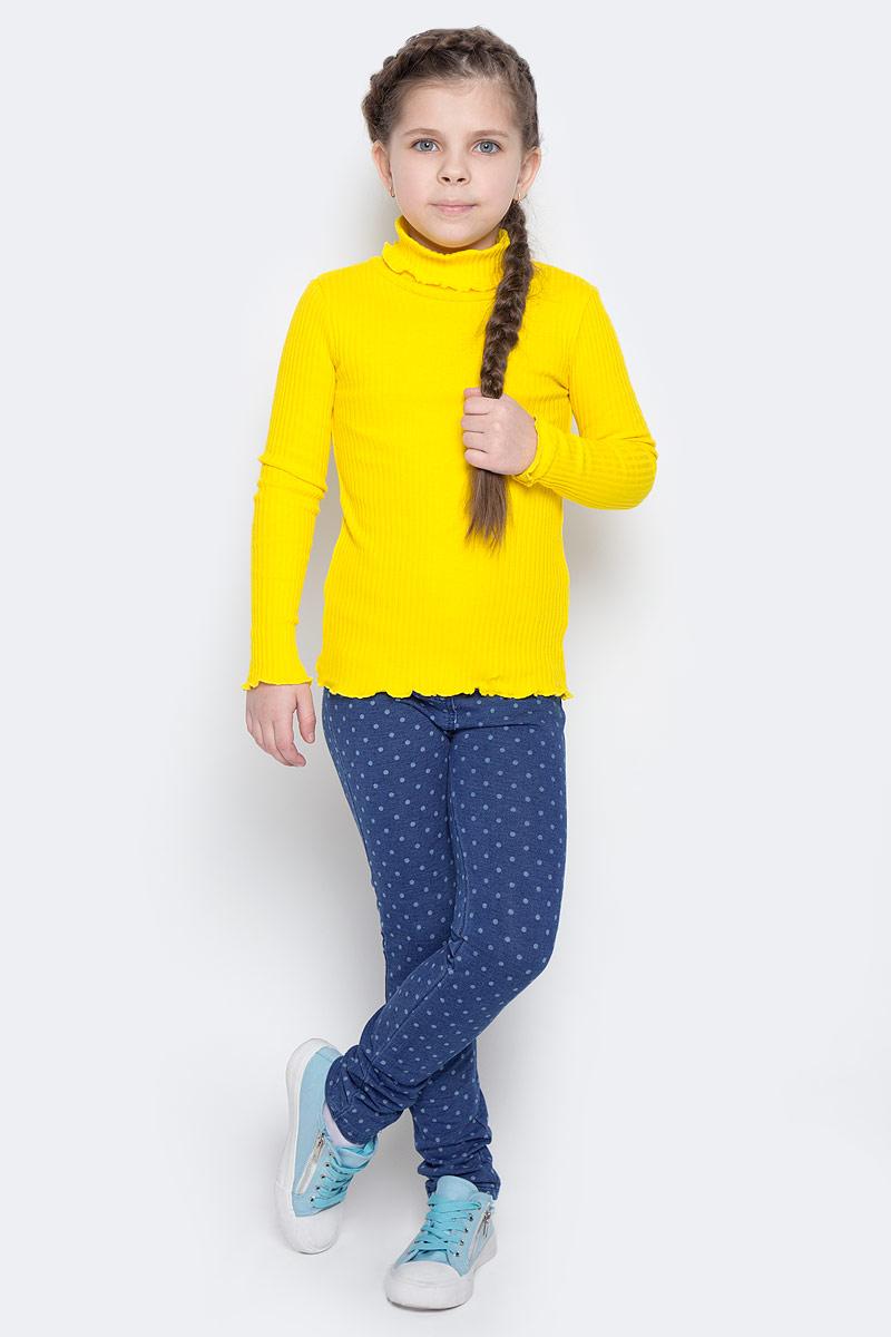 Водолазка362161Мягкая водолазка для девочки с высоким воротником, надежно защищающим от ветра, выполнена из эластичного гофрированного трикотажа, благодаря чему она идеально садится по фигуре ребенка. Яркий цвет модели позволяет создавать стильные образы.