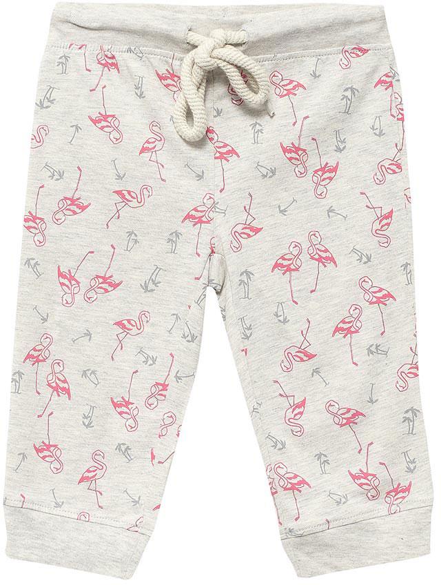 БрюкиPH-5665/004-7102Модные брюки для девочки Sela, выполненные в спортивном стиле, станут отличным дополнением к гардеробу юной модницы. Брюки выполнены из натурального хлопка и оформлены оригинальным принтом. Широкий пояс на мягкой резинке дополнительно регулируется шнурком. Низ брючин дополнен мягкой трикотажной резинкой.