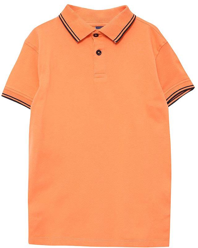 ПолоTsp-711/520-7161Стильная футболка-поло для мальчика Sela выполнена из качественного хлопкового материала и оформлена контрастными полосками на воротнике и манжетах рукавов. Модель прямого кроя с разрезами по бокам и отложным воротничком застегивается на пуговицы до середины груди. Яркий цвет модели позволяет создавать стильные летние образы.
