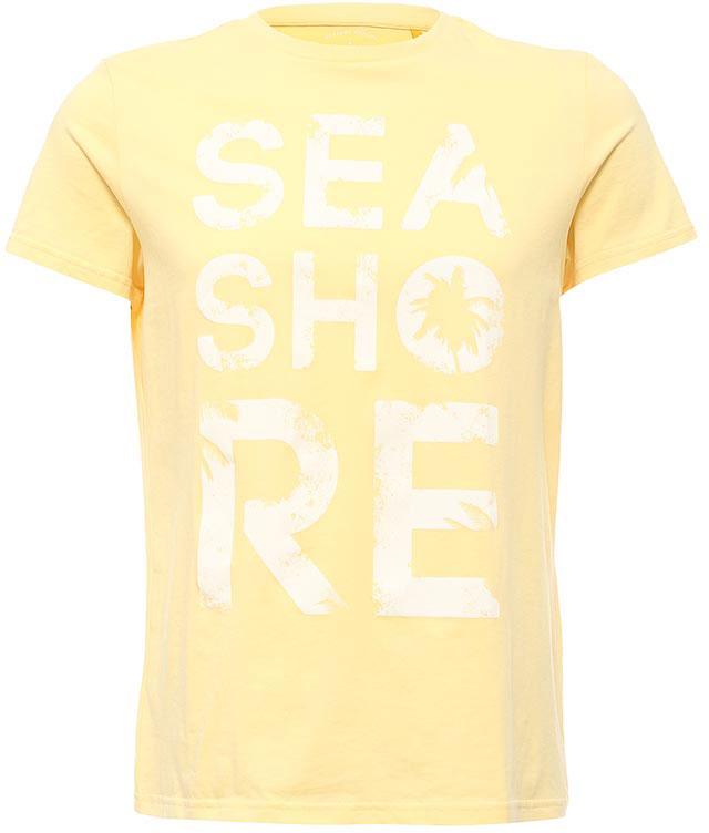 ФутболкаTs-211/2066-7213Стильная мужская футболка полуприлегающего силуэта Sela изготовлена из натурального хлопка и оформлена оригинальным принтом с надписями. Воротник дополнен мягкой трикотажной резинкой. Яркий цвет модели позволяет создавать модные образы.
