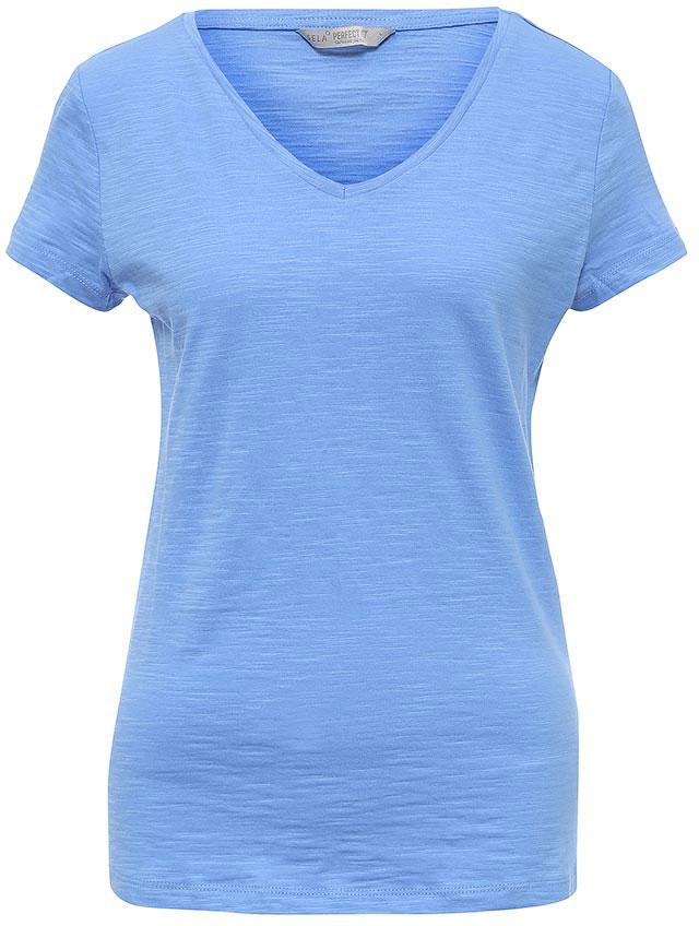 ФутболкаTs-111/1227-7181Стильная женская футболка Sela станет отличным дополнением к гардеробу каждой модницы. Модель полуприлегающего силуэта с V-образным вырезом горловины и короткими рукавами изготовлена из натурального хлопка. Воротник дополнен мягкой эластичной бейкой. Универсальный цвет позволяет сочетать модель с любой одеждой.