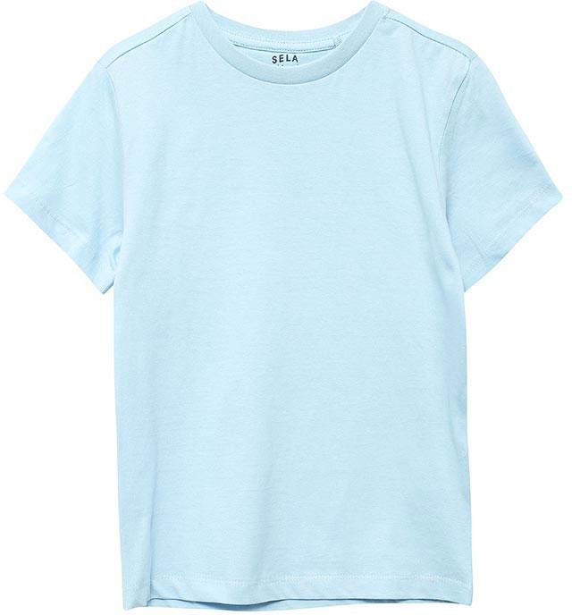 ФутболкаTs-711/514-7161Стильная футболка для мальчика Sela изготовлена из натурального хлопка. Воротник дополнен мягкой трикотажной резинкой. Яркий цвет модели позволяет создавать модные образы.