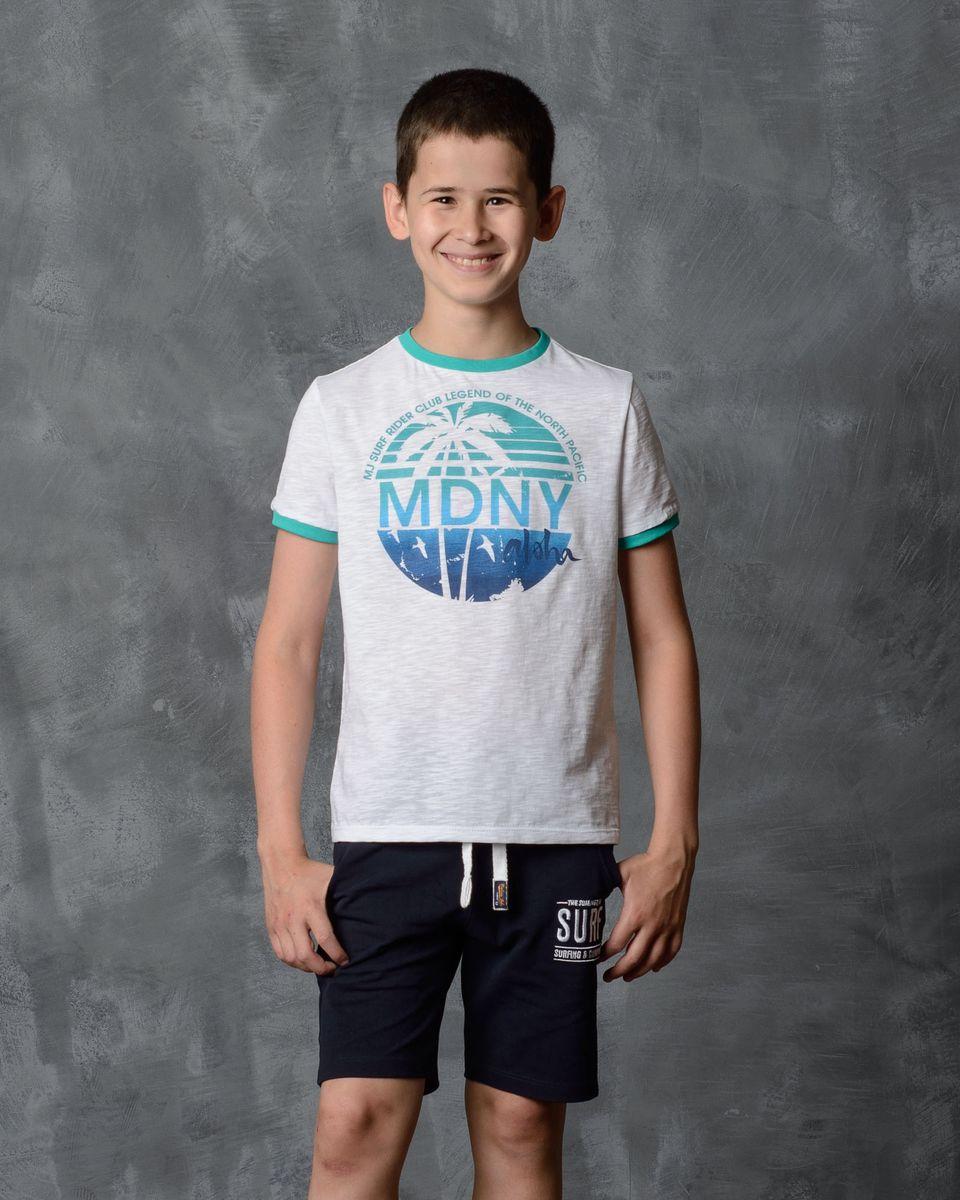Футболка01B00110100/MDNY_aloha/Футболка Modniy Juk изготовлена из мягчайшего высококачественного хлопка. Модель полуприлегающего силуэта с короткими рукавами и круглым вырезом горловины. Не стесняет движения. Яркий принт в стиле Modniy Juk.