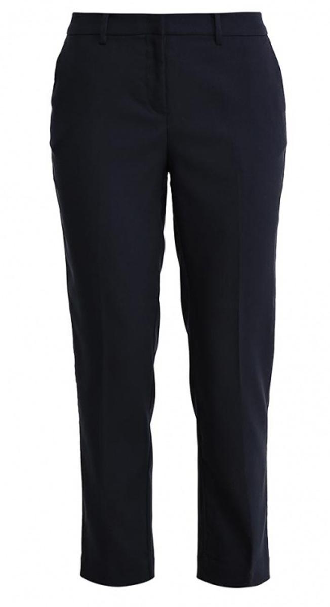 БрюкиP-115/811-7131Стильные укороченные брюки Sela, изготовленные из качественного материала в классическом стиле, станут отличным дополнением вашего гардероба. Брюки зауженного к низу кроя и стандартной посадки на талии застегиваются на застежку-молнию и пуговицу. На поясе имеются шлевки для ремня. Модель дополнена двумя втачными карманами спереди и двумя прорезными карманами сзади.