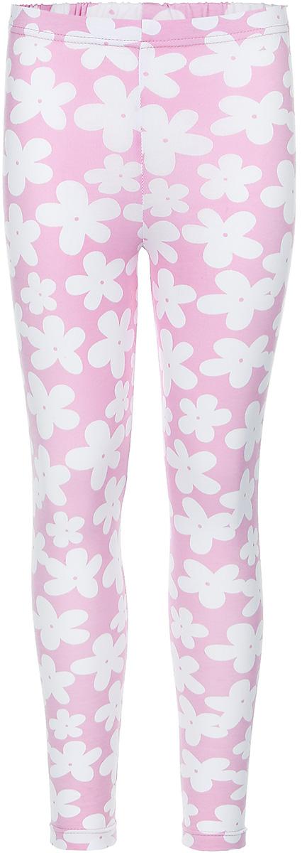 Леггинсы22741Леггинсы для девочки КотМарКот Ромашка изготовлены из натурального хлопка. Леггинсы имеют широкую эластичную резинку на поясе. Изделие украшено контрастным цветочным принтом.
