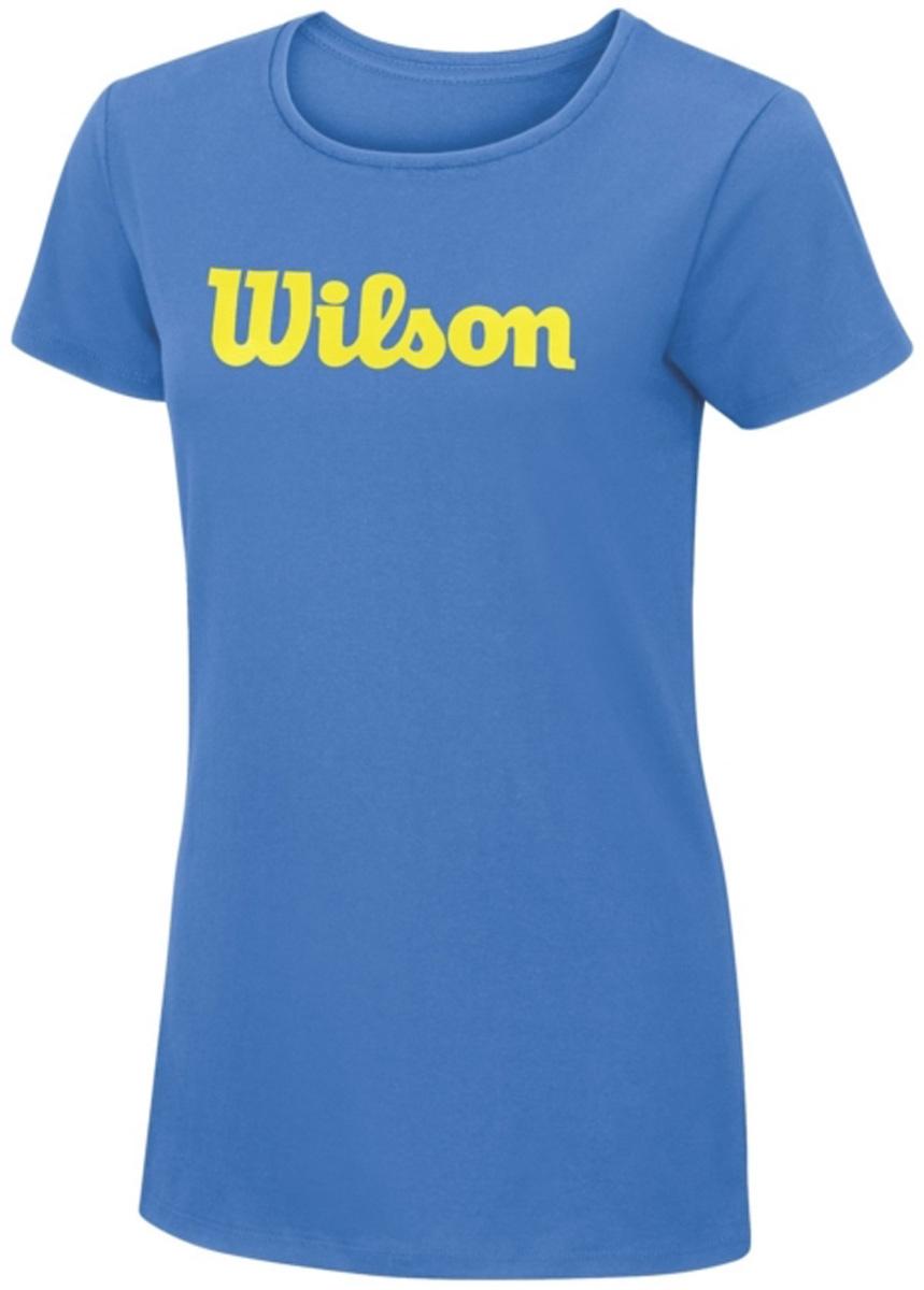 ФутболкаWRA758201Тренировочная футболка с Логотипом Wilson. Спортивный крой для оптимального комфорта.