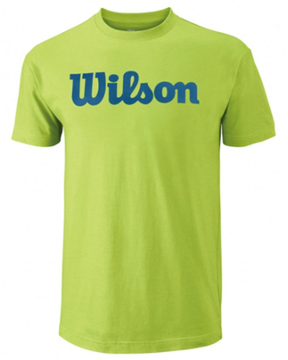 ФутболкаWRA747802Тренировочная футболка с Логотипом Wilson. Спортивный крой для оптимального комфорта.